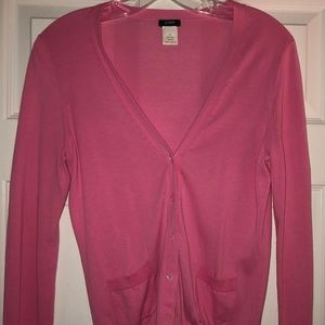 JCrew pink cardigan - small
